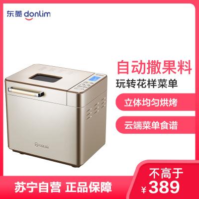 東菱(Donlim)面包機DL-TM018全自動家用烤面包多功能智能撒果料和面機蛋糕機增壓電機和面機酸奶蛋糕吐司機