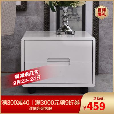 A家家具 床頭柜 簡約現代帶抽屜白色臥室收納柜木質 臥室家具 DA0201