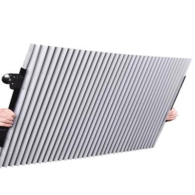 intermail 汽車遮陽簾防曬隔熱遮陽擋自動伸縮遮光擋風玻璃遮陽板65cm