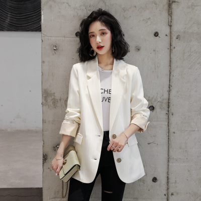 愫惠君時尚潮流舒適長袖西裝2020年春季中長款個性優雅H-MDN202