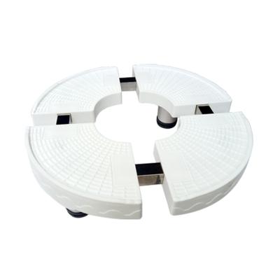 帮客材配 安居士 空调柜机底座 圆形 单个销售 白色