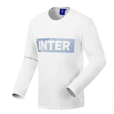 國際米蘭俱樂部Inter Milan 2019新款長袖t恤男修身中青年圓領運動休閑T恤男裝打底衫戶外彈力套頭衫