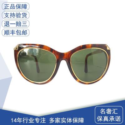 【正品二手9成新】路易威登(LV)Z2360E 玳瑁 女士玳瑁 鑲四葉花綠片 太陽鏡 全套含盒