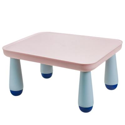 babycare游戲玩具桌兒童多功能收納小桌子塑料長方形幼兒園學習桌8019