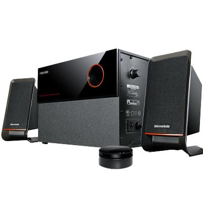 麥博(microlab)電腦音箱M200十周年紀念版 電腦多媒體2.1音箱 音響 低音炮 木質桌面音響 黑色