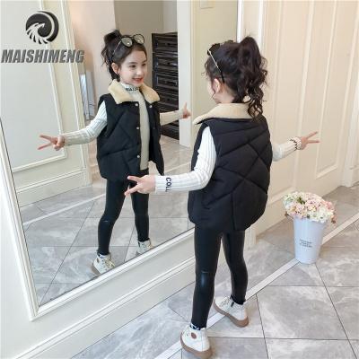 【品牌特卖】女童羽绒棉马甲冬季外穿洋气秋冬款女孩加厚儿童宝宝保暖背心马夹