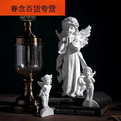 智樂迪(zhiledi) 智樂迪 歐式復古白色裝飾品塑 法式石膏人物像小件