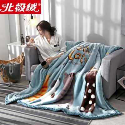 北極絨(Bejirog)秋冬新品加厚拉舍爾毯子珊瑚絨毛毯夏季薄款毯子辦公室午睡單人