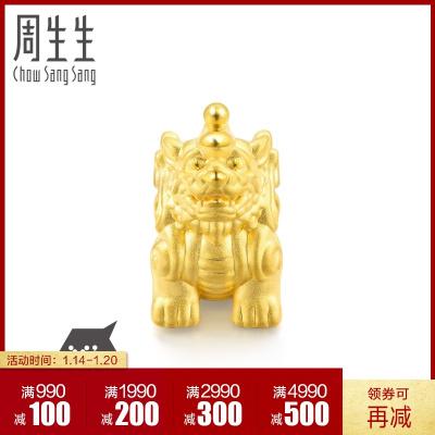 周生生(CHOW SANG SANG)黄金饰品足金Charme串珠系列貔貅串珠86330C定价