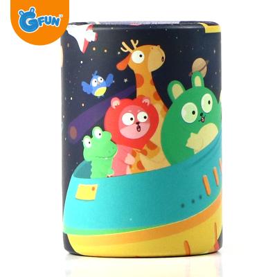 GFUN儿童宇宙探险迷你万花筒亲子怀旧玩具多棱镜早教益智玩具3岁以上模型玩具环保纸+玻璃珠镜材质生活场景万花筒1