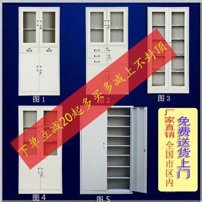 扬州加厚办公玻璃档案文件柜财务凭证资料柜铁皮带锁更衣储物柜