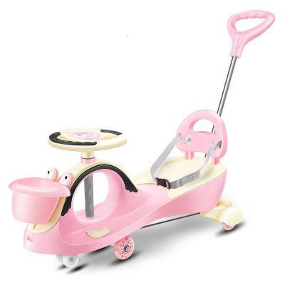兒童扭扭車小孩寶寶滑行玩具車子帶推把搖擺妞妞滑滑可推溜溜車
