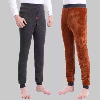 品彩(PinCai)男保暖褲加絨加厚男棉褲打底褲加肥大碼高腰防寒褲男士