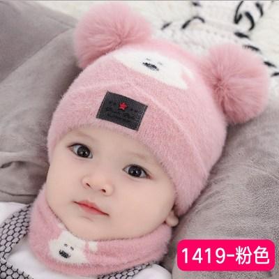 咭木咭木(JIMU)婴儿帽子秋冬纯棉加绒婴幼儿男宝宝帽可爱超萌韩版儿童帽冬季