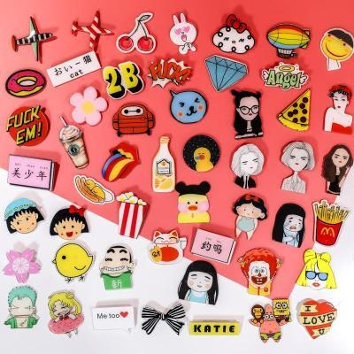 學生少女可愛徽章包郵卡通動漫亞克力胸針動物徽章扣針學生禮物