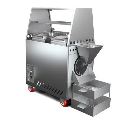 商用炒貨機古達糖炒栗子花生瓜子機小型全自動燃氣電熱多功能炒板栗機 25型(電熱帶罩+進出料口)
