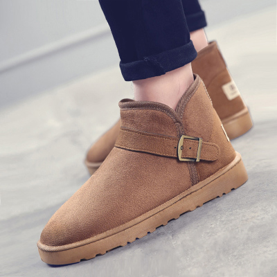 步箭云雪地靴 男女鞋情侣户外棉鞋高帮加绒冬季保暖休闲鞋