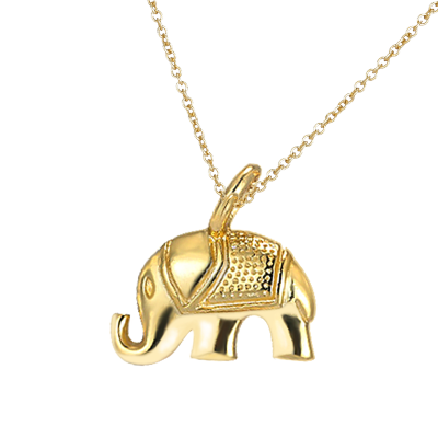 【 泰國芭提亞大象】AITEKA惟妙惟肖得芭提亞大象精致黃金色吉祥福氣項鏈精巧可愛別致與眾不同