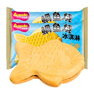 网红鲷鱼烧冰淇淋雪糕 抖音全家同款薄脆曲奇夹心冰激凌冷饮85g*12支