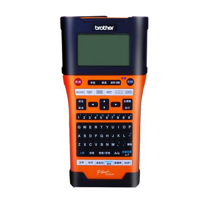 兄弟(brother)PT-E550W标签机/条码打印机 便携接电脑锂电池电力电信移动网线线缆标签打印 无线网络24mm