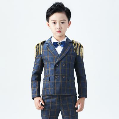 新品热卖儿童西装套装花童礼服男宝宝小西服外套英伦韩版主持人钢琴演出服