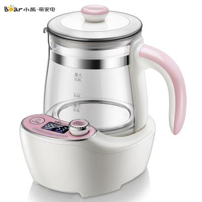 小熊(Bear)婴儿恒温调奶器 0.8L温奶器 恒温电热水壶 宝宝冲泡奶粉机 暖奶热奶迷你玻璃水壶TNQ-A08C1