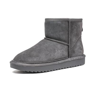 紅蜻蜓冬韓版休閑雪地靴加絨加厚保暖防滑短筒靴棉鞋