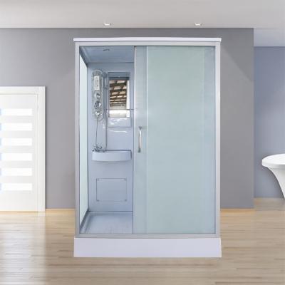 淋浴房整体一体式长方形家用沐浴间封闭式钢化玻璃浴室移动洗澡间 140*110*215单开门不含马桶 含蒸汽