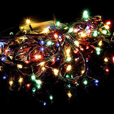 LED户外七彩灯带灯串渔节日装饰软灯条满天星室外防水缠树灯带灯串10米