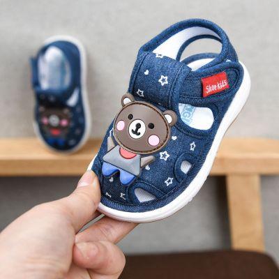 寶寶布涼鞋夏季男嬰兒0一1-2歲3叫叫鞋防滑軟底學步鞋女寶寶鞋子 纖婗(QIANNI)