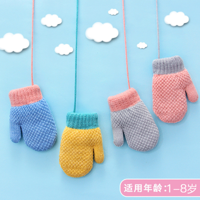 1-8岁秋冬季保暖中小儿童手套男女宝宝幼儿圆小孩婴儿手套加厚款 臻涩