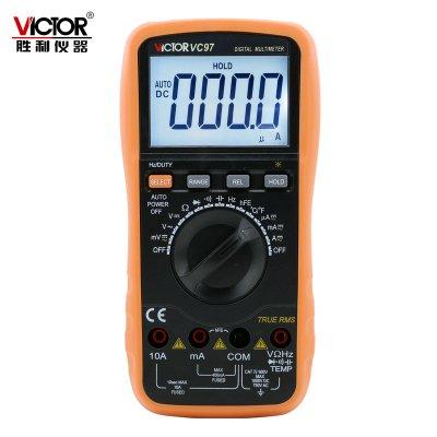 勝利儀器(VICTOR)VC97數字萬用表自動量程電池電容表高清背光可測溫度頻率
