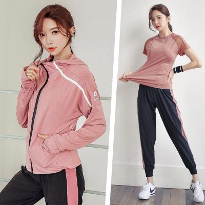 秋冬款瑜伽服套装长袖女健身房运动跑步套装宽松健身服速干衣透气