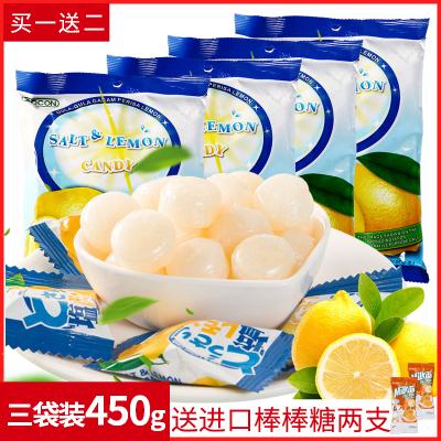 【送】马来西亚进口可康咸柠檬糖150g*3袋450g 补充盐份 盐味儿童零食品糖果