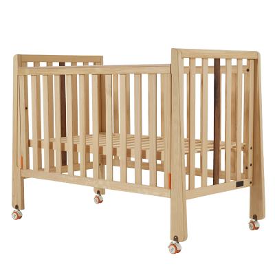 babycare婴儿床 拼接大床实木无漆 多功能摇篮床新生儿bb床宝宝床8930