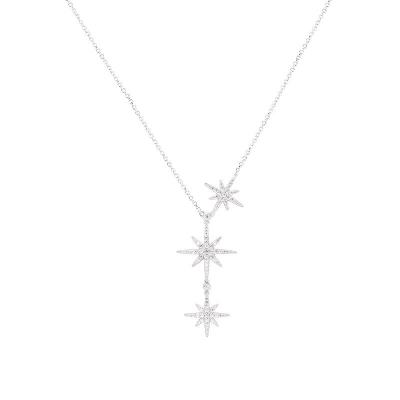 apm MONACO 女士 歐美風格 925銀 個性 大小星星項鏈銀色 AC3350OX