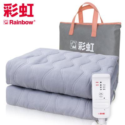 彩虹(RAINBOW)電熱毯加大單人電褥子(1.8*1米)安全保護學生宿舍單控可調溫 磨毛面料 一鍵除螨 官方旗艦