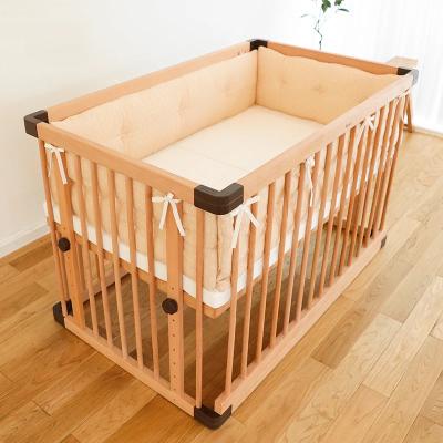 Faroro全棉纱婴儿床防撞床围套件宝宝床上用品纯棉原色床品L