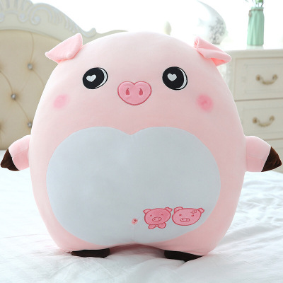 新款毛絨玩具豬公仔豬年吉祥物可愛豬毛絨玩偶1歲以上嬰幼兒寶寶睡覺抱枕布娃娃女孩小豬布偶不掉毛可送男女朋友生日禮物菲洛林