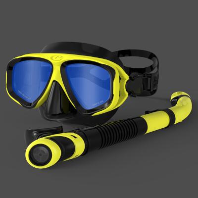 因樂思(YINLESI)浮潛面鏡三寶成人潛水眼鏡呼吸管套裝全干式游泳裝備