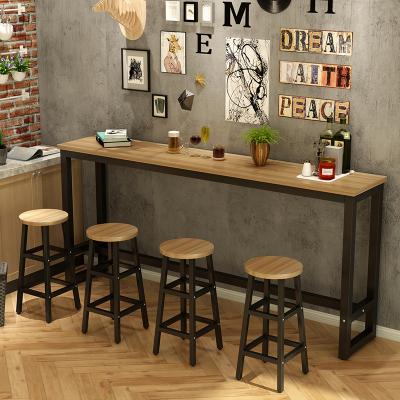 尋木匠靠墻吧臺桌家用隔斷長條高腳桌簡易餐桌奶茶店桌椅組合長條桌窄桌