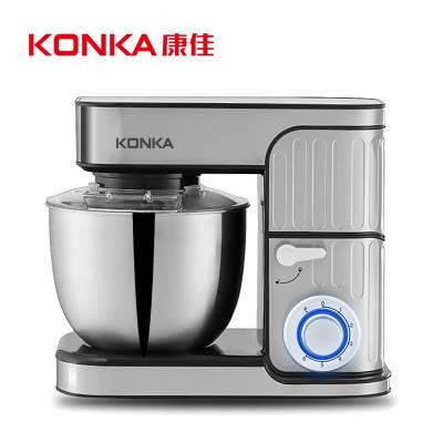 康佳(KONKA)KM-901厨师机家用和面机多功能揉面机搅拌机打蛋器料理机电子式旋钮式 闪亮银三合一