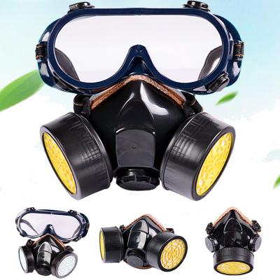 防毒面具双罐化工气体防护异味农药防尘法耐(FANAI)防毒喷漆口罩电焊面罩