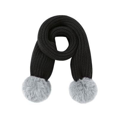 巴拉巴拉儿童围巾男冬季新品加厚保暖韩版毛茸茸毛线针织女童围脖