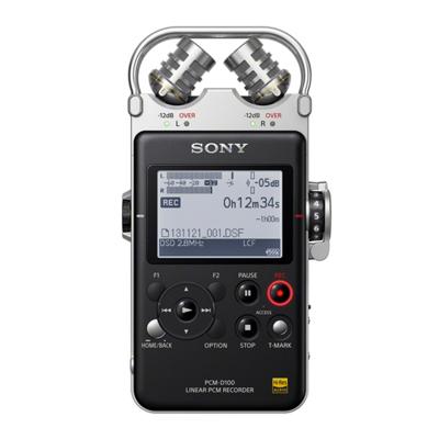 索尼(SONY)數碼錄音棒PCM-D100 32G 專業DSD播放格式 大直徑定向麥克風 商務樂器學習適用 黑色