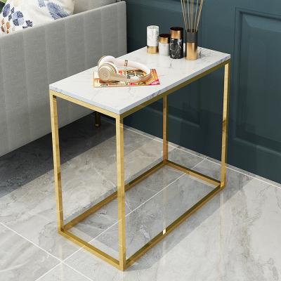 檀星星北歐大理石沙發邊幾角幾小桌子茶幾簡約現代創意鐵藝小圓桌床頭柜