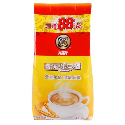 福牌 乐口福 老上海传统麦乳精 浓香可可味蛋白型固体饮料袋装 800g加赠88g