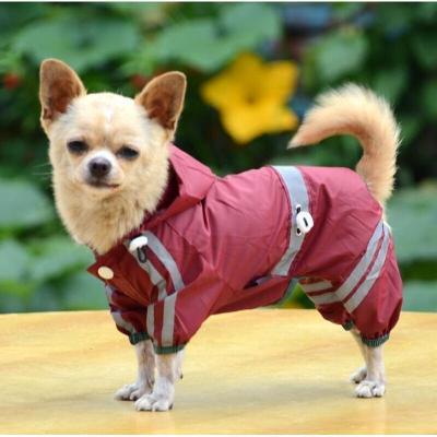 小狗狗雨衣寵物衣服泰迪服裝中型犬四腳雨傘小型犬狗雨披反光 Xuan
