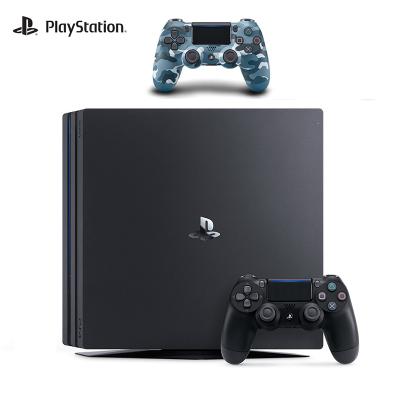 【套餐】索尼(SONY)PS4 Pro 1TB国行家用游戏机 黑+ PlayStation 4 游戏手柄(迷彩蓝)