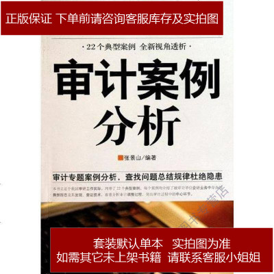 審計案例分析 張景山 中國市場出版社 9787509207093